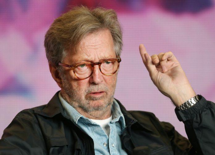 Eric Clapton durante promoção do filme