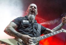 Scott Ian em show do Anthrax