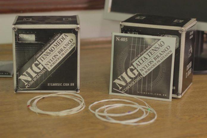 Cordas NIG de nylon branco para violão