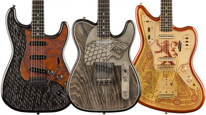 Guitarras Fender temáticas de Game of Thrones