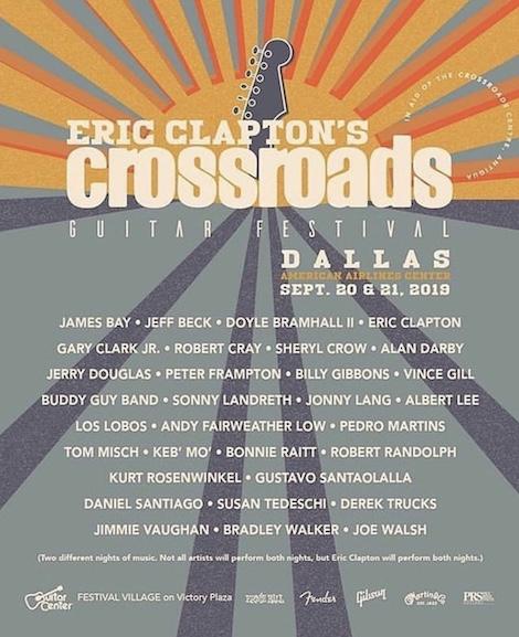Cartaz do Crossroads Guitar Festival de 2019
